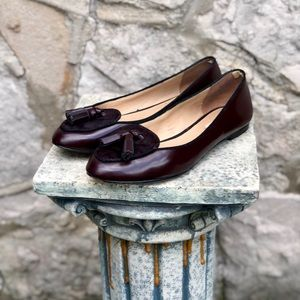 Vintage Mossimo Dutti burgundy loafers, size 6